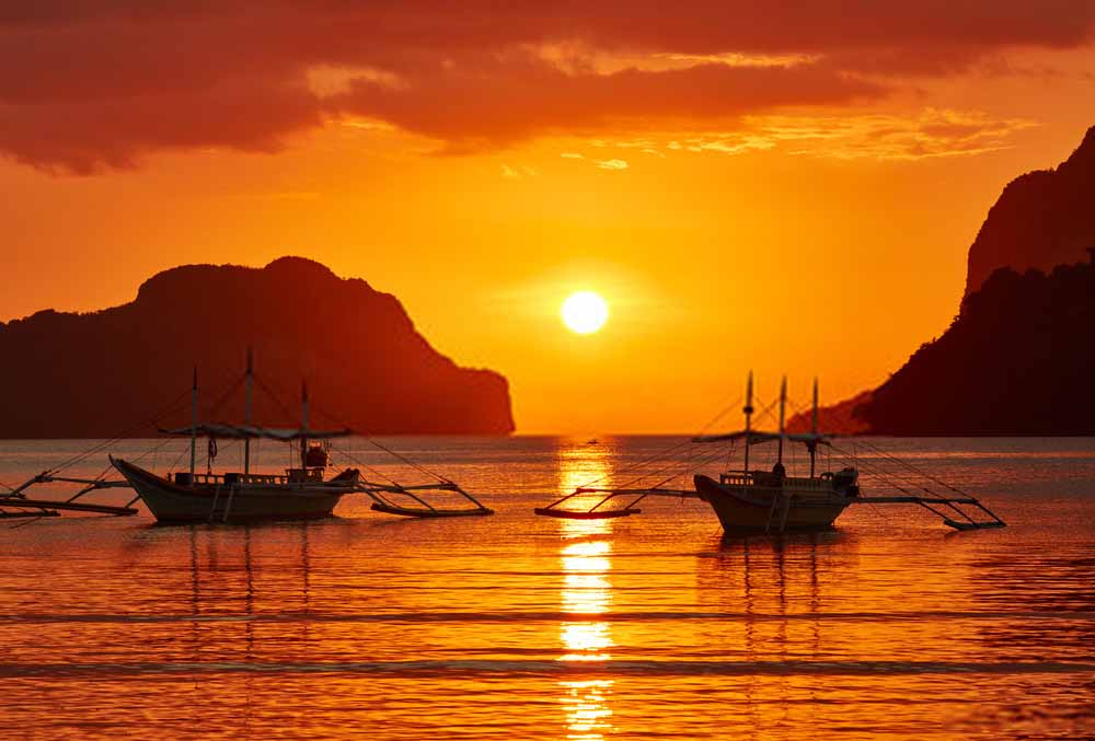 Sunset View in Philippines